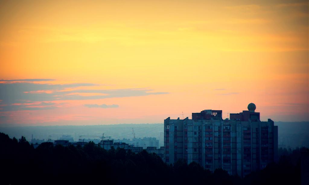 """Рассвет в районе """"Льдозавод"""""""