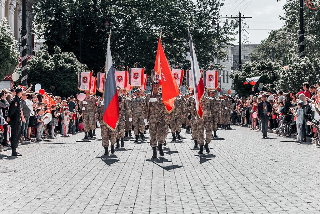 Парад на 9 Мая в Крыму