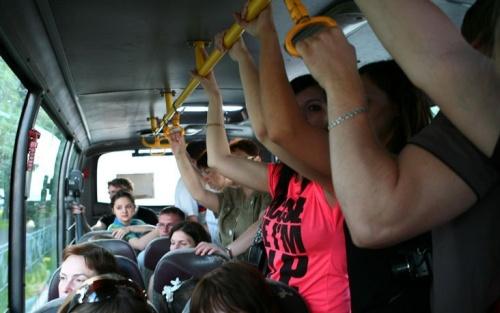 фото ласки в автобусе