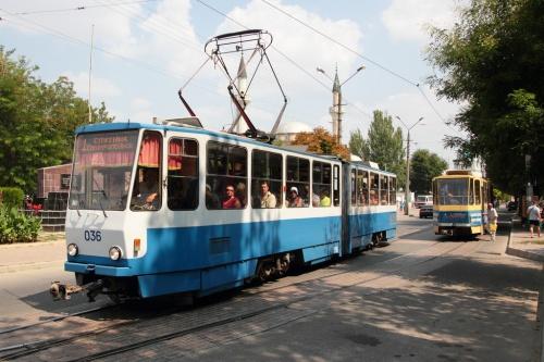 Движение трамваев в Евпатории в пасхальную ночь