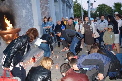 Евпаторийцы приняли участие в акции «Зажги огонь в своем сердце»