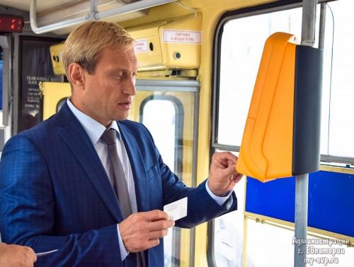 В Евпатории в городских трамваях внедряют электронные платежи и систему ГЛОНАСС
