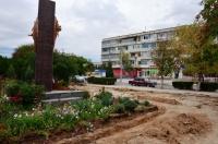 В Евпатории благоустройство сквера «Афганцев» идет по графику