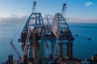 На монтаж двух арок Керченского моста ушло 1,6 миллиарда