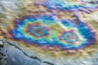 В Керченском проливе обнаружено большое пятно топлива