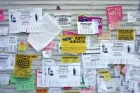 В Симферополе подумают, как избавиться от расклейки объявлений