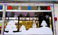 «Новогодние» трамваи вышли на улицы Евпатории