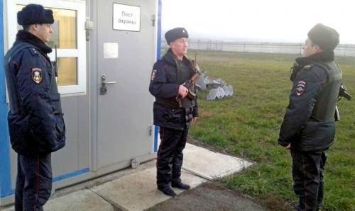 Росгвардия Крыма приступила к охране энергомоста