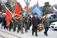 В Евпатории провели автопробег в честь 100-летнего юбилея праздника Защитника Отечества