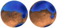 Марсианские океаны связаны с вулканами