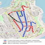 В центре Севастополя действует новая схема движения транспорта