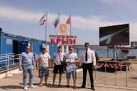 Миллионного пассажира на керченской переправе встретили на неделю раньше