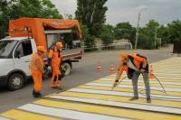 «Севавтодор» должен завершить нанесение дорожной разметки в городе до конца недели