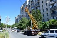 С начала года в Симферополе восстановили 1400 светильников и заменили 800 ламп на улицах