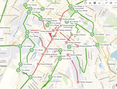 Власти Симферополя наконец-то обнародовали схему объезда ремонтируемых улиц