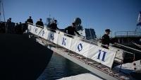 В Севастополе торжественно встретили учебный корабль «Перекоп»