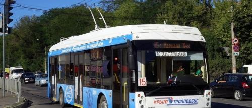 Проезд в троллейбусах Симферополя с 24 октября можно будет оплатить банковской картой