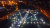Появились фото ночной иллюминации Комсомольского парка в Керчи