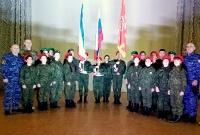 Крымские росгвардейцы приняли участие в церемонии вручения беретов юнармейцам
