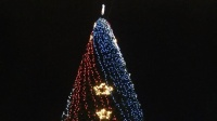 На площади Нахимова в Севастополе открыли главную новогоднюю елку города