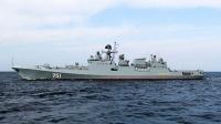 Фрегат Черноморского флота «Адмирал Эссен» возвращается в Севастополь из Средиземного моря