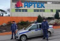 Сотрудники Росгвардии обеспечили общественную безопасность в период новогодних каникул в «Артеке»