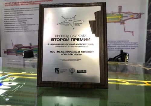 Аэропорт Симферополь в четвертый раз стал лауреатом премии «Воздушные ворота России»