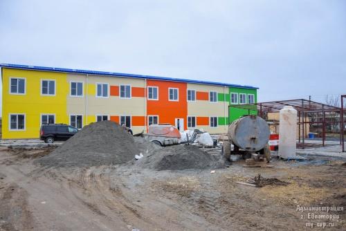 В Евпатории строятся три модульных детских сада