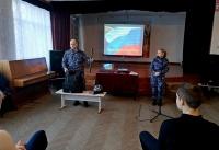 В г.Симферополе сотрудники крымской вневедомственной охраны Росгвардии провели «Урок мужества» для школьников