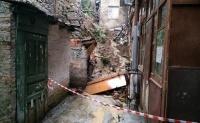 Восстановление подпорной стены в переулке Ломоносова в Ялте продолжается