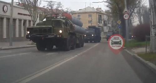 Севастопольцев удивило обилие военной техники в центре города