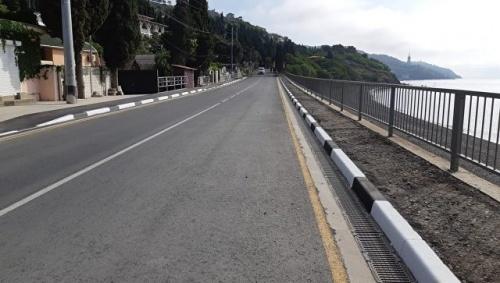 Завершен ремонт участка дороги в Большой Алуште