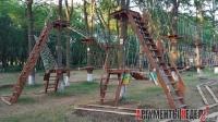 В Комсомольском парке заработал веревочный парк