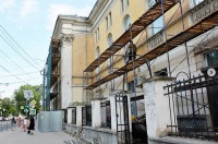 «Здание раздора» в центре Симферополя начали ремонтировать