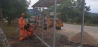 В севастопольских сёлах монтируют остановочные пункты