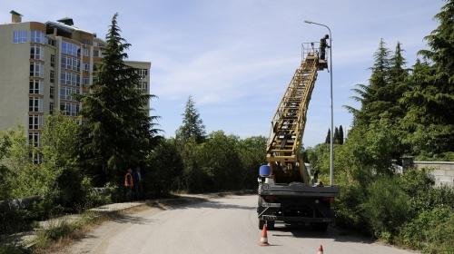 В Ялте на модернизацию в этом году наружного освещения улиц выделили 7 млн рублей