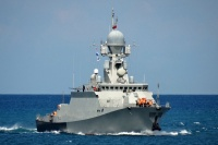 Корабль «Ингушетия» провел учения с истребителями по отражению воздушной угрозы