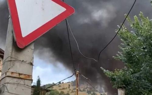 В центре Балаклавы горела свалка