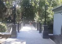 Завершён ремонт пешеходного моста с улицы Ломоносова в Пионерский парк