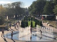 У фонтана в керченском парке установили информационный стенд. Спойлер: купаться не запретили