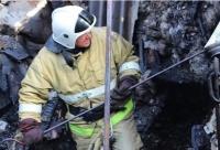 В Ленинском районе сгорел дом, пострадала женщина