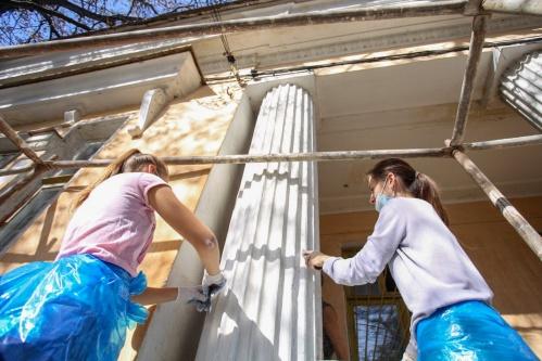 Студенты КФУ помогли в реставрации исторического здания в Симферополе