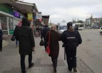 В районе автовокзала в Керчи проверяли масочный режим