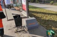 В Симферополе устанавливают емкости для хранения зимних реагентов