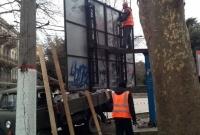 Власти Ялты активизировали демонтаж незаконных рекламоносителей
