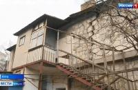 В Ялте на аварийном доме после землетрясения образовались новые трещины