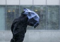 Штормовой ветер сорвал двери кафе на набережной Ялты