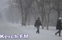 Автобусное сообщение с Керчью остановили из-за сильных снегопадов
