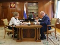 Матвиенко обсудила с Развожаевым вопросы стратегического развития Севастополя