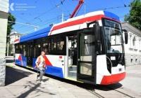 В Евпатории на маршрут вышел новый трамвай
